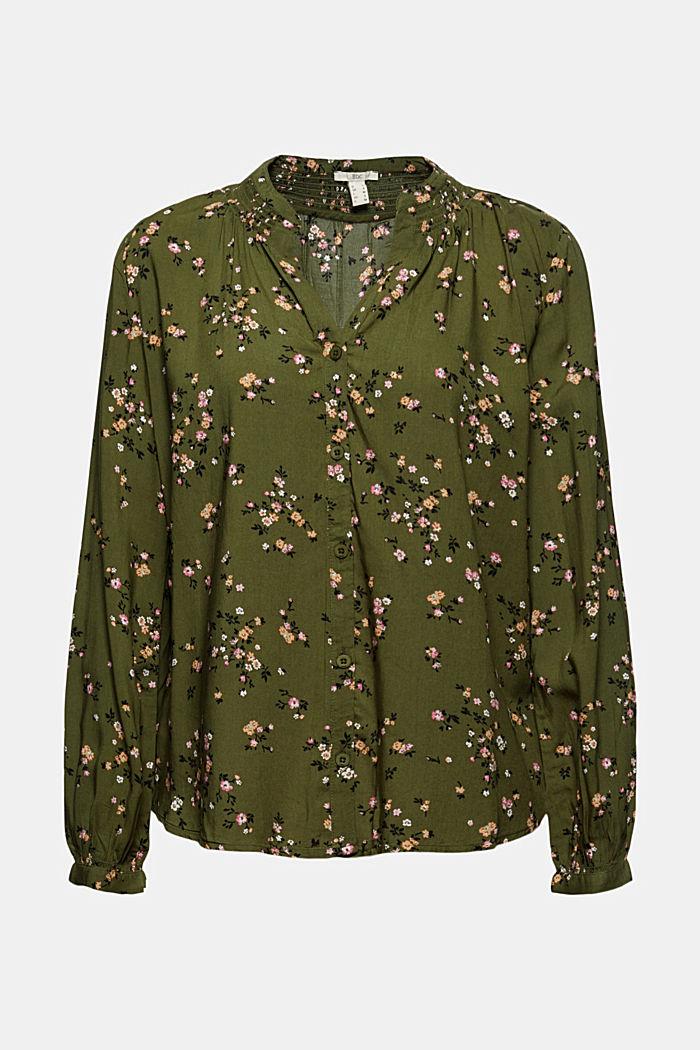 Bluse aus LENZING™ ECOVERO™, KHAKI GREEN, detail image number 6