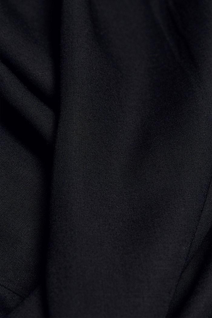 Blouse van LENZING™ ECOVERO™, BLACK, detail image number 4