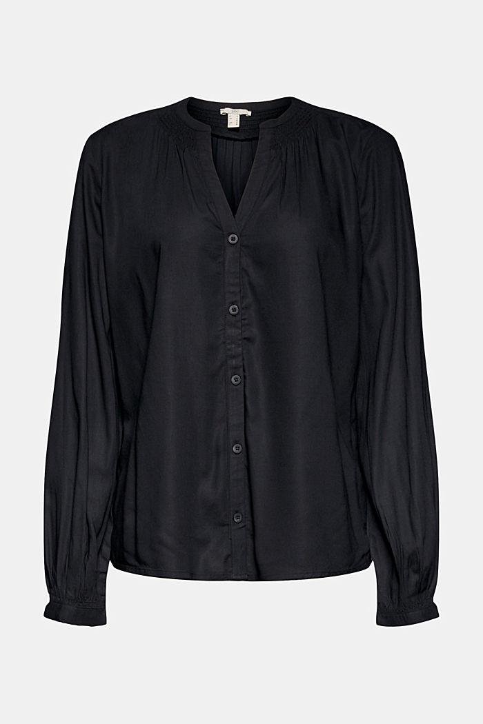 Blouse van LENZING™ ECOVERO™, BLACK, detail image number 7