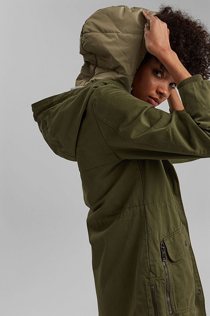 Recycled: parka with organic cotton