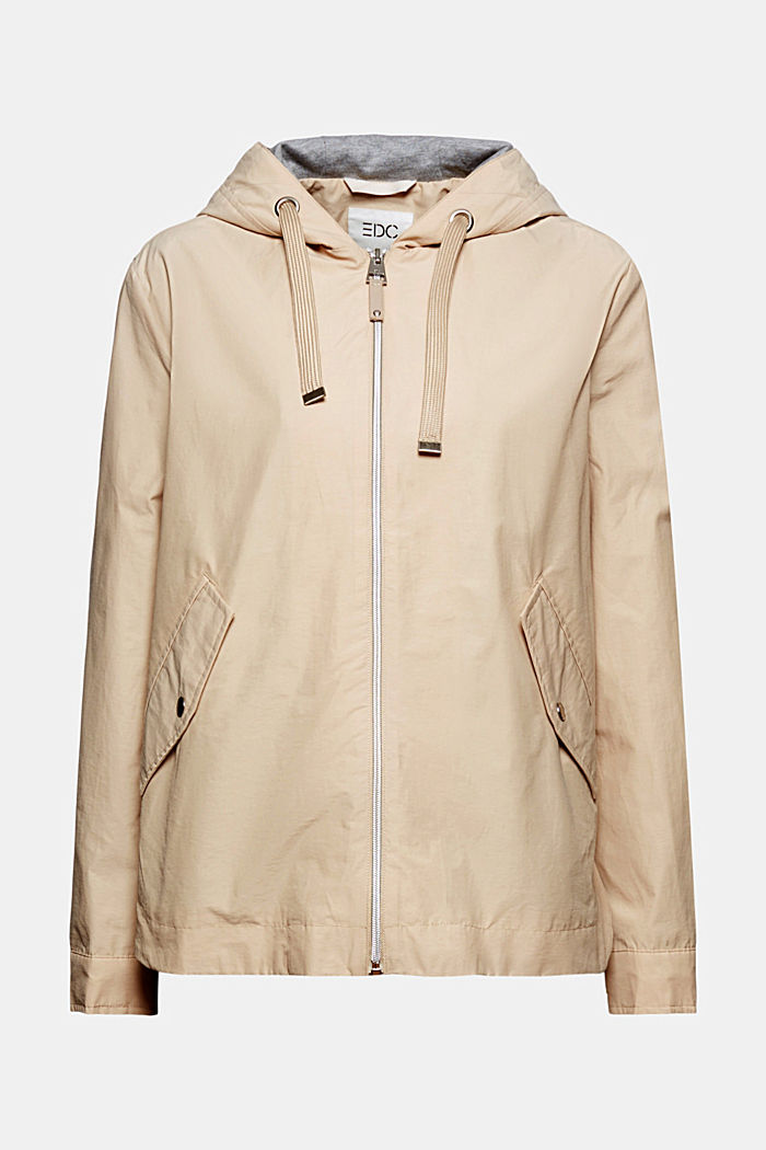 Lightweight transitional jacket with a hood