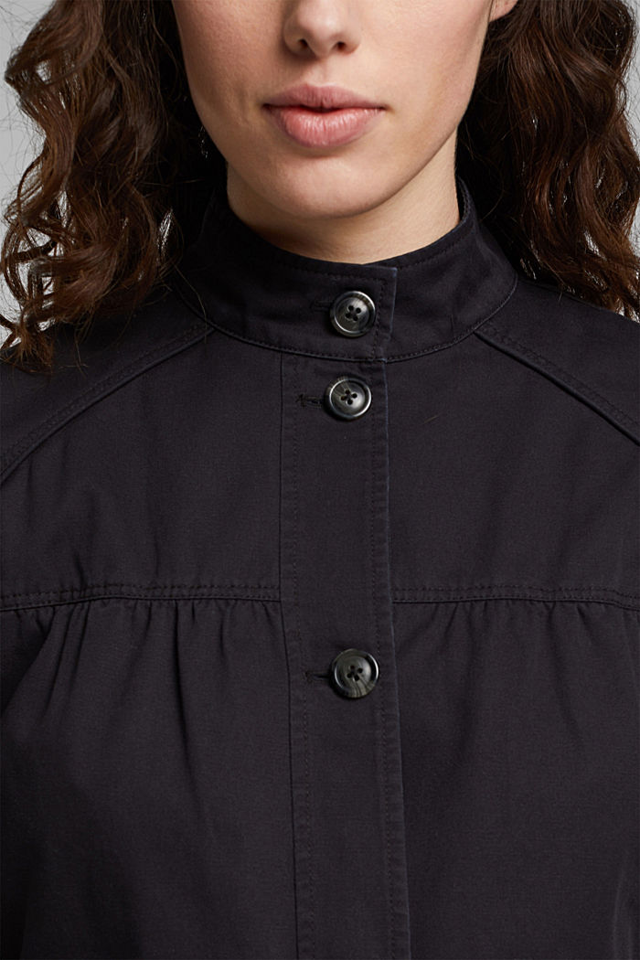 Utility style bomber jacket with organic cotton, BLACK, detail image number 2