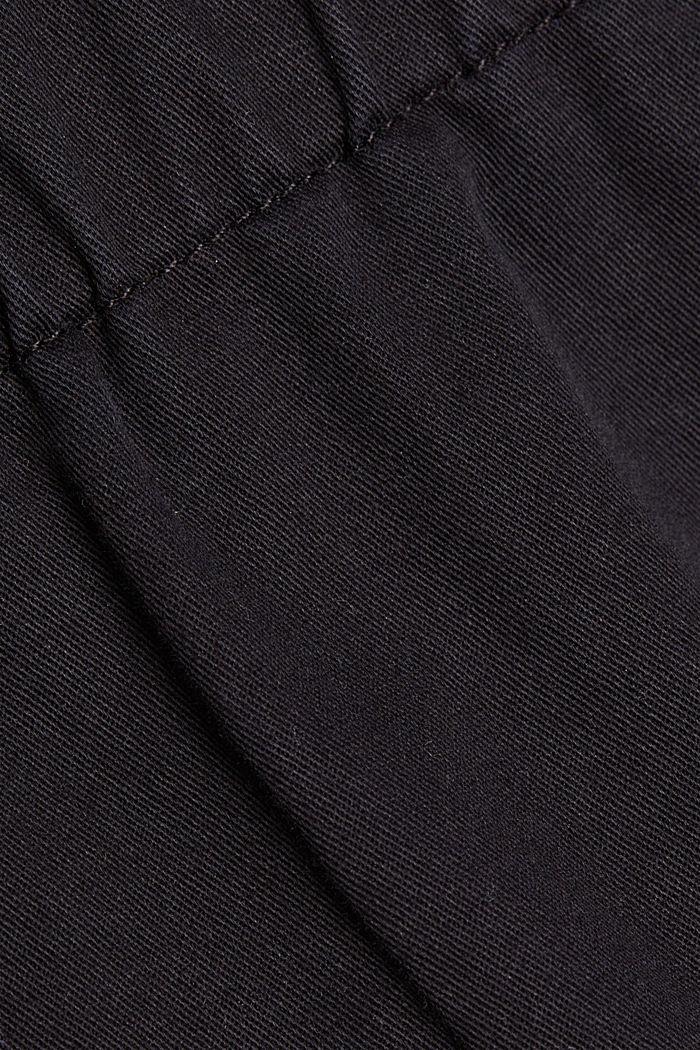Giubbotto stile militare con cotone biologico, BLACK, detail image number 4