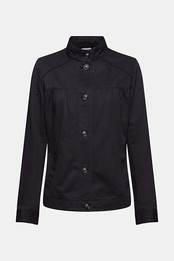 Utility style bomber jacket with organic cotton, BLACK, detail image number 5