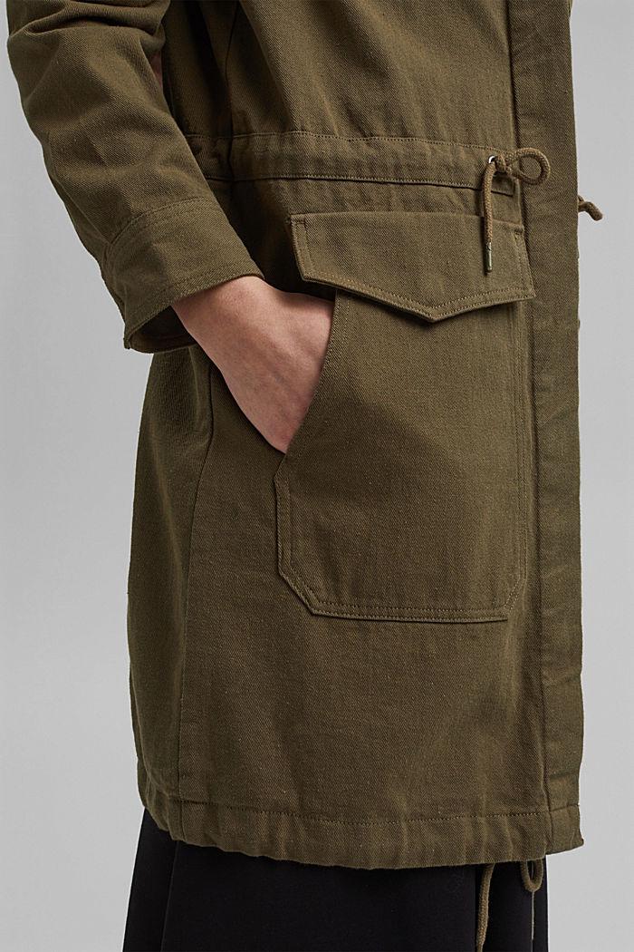 Parka légère 100% coton biologique, KHAKI GREEN, detail image number 2