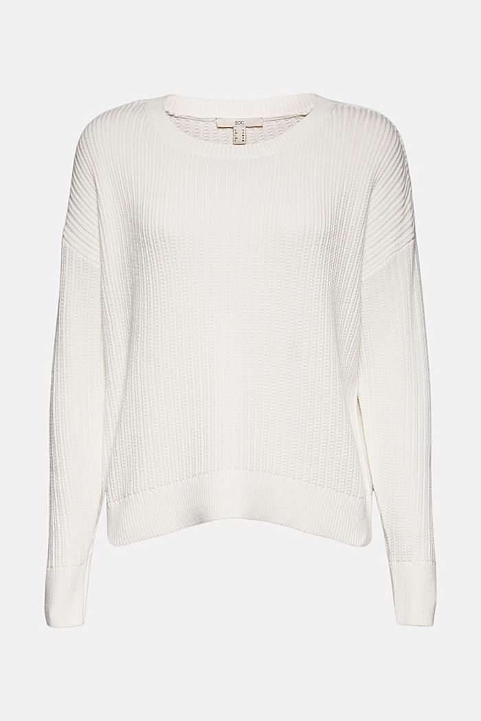 Pullover aus 100% Organic Cotton, OFF WHITE, detail image number 7