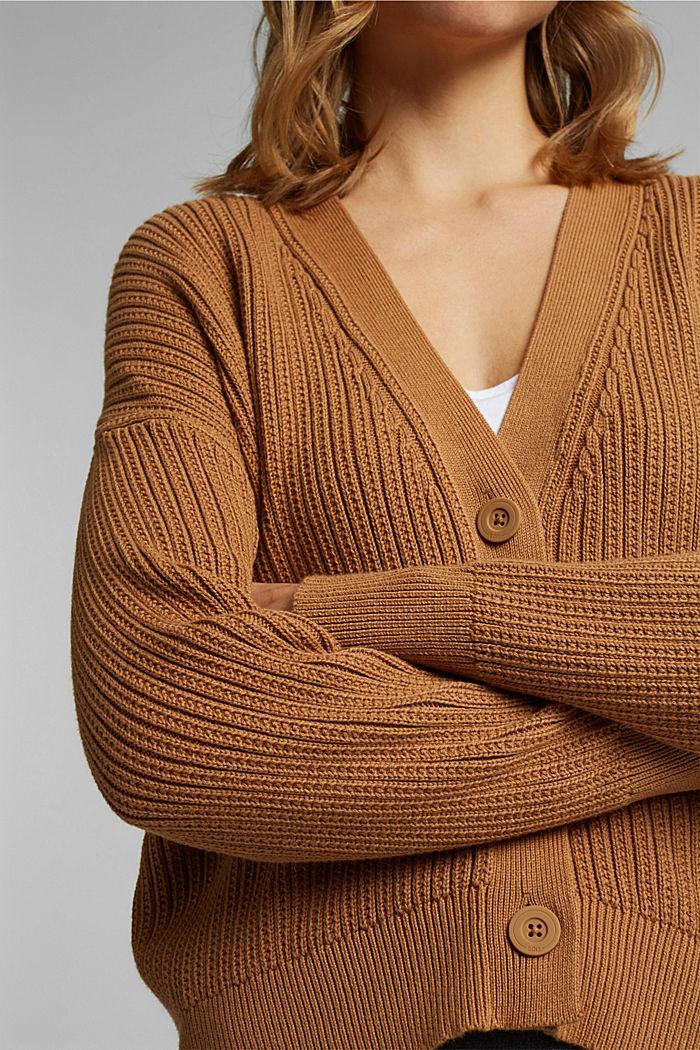 Cardigan aus 100% Organic Cotton, CARAMEL, detail image number 2