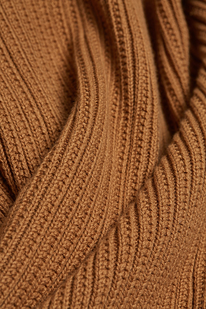 Cardigan aus 100% Organic Cotton, CARAMEL, detail image number 4