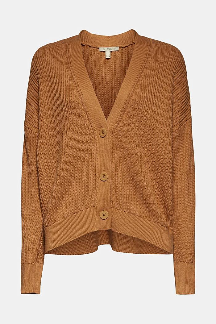 Cardigan aus 100% Organic Cotton, CARAMEL, detail image number 6