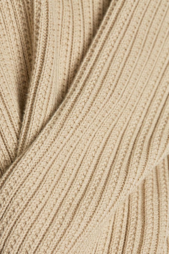Cardigan aus 100% Organic Cotton, BEIGE, detail image number 4