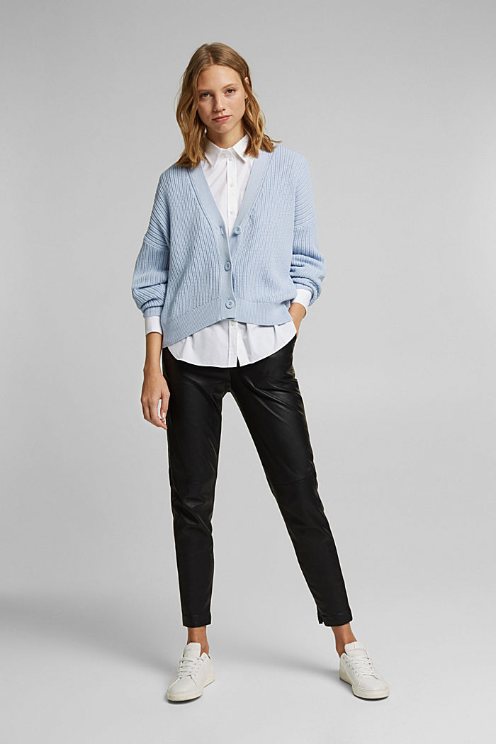 Cardigan aus 100% Organic Cotton, LIGHT BLUE LAVENDER, detail image number 1