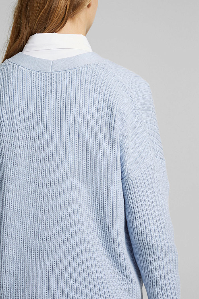 Cardigan aus 100% Organic Cotton, LIGHT BLUE LAVENDER, detail image number 2