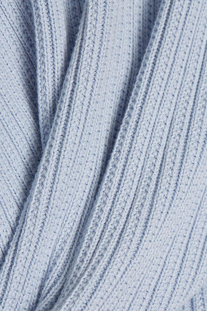 Cardigan aus 100% Organic Cotton, LIGHT BLUE LAVENDER, detail image number 4