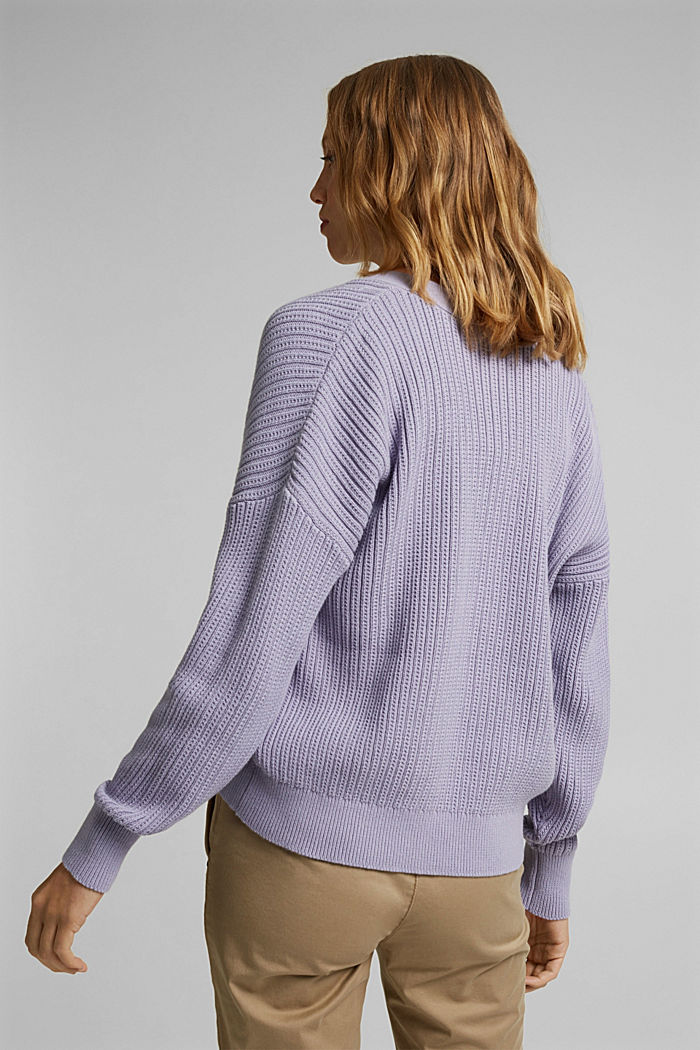 Cardigan made of 100% organic cotton, LILAC, detail image number 3