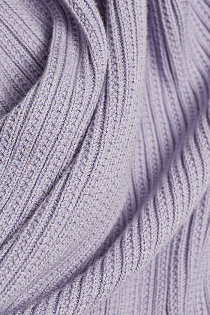 Cardigan made of 100% organic cotton, LILAC, detail image number 4
