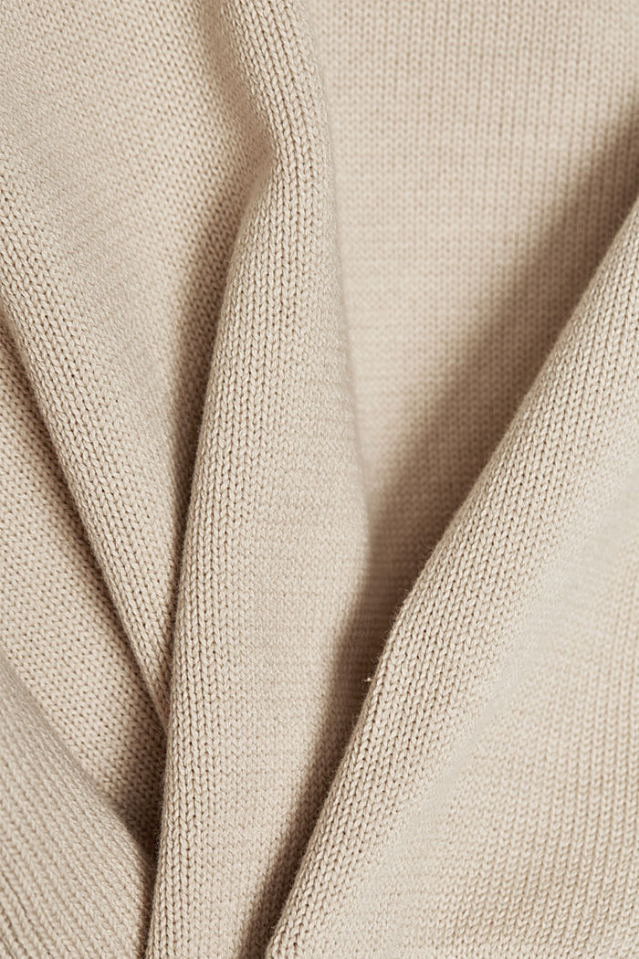 Layered jumper with organic cotton, BEIGE, detail image number 4