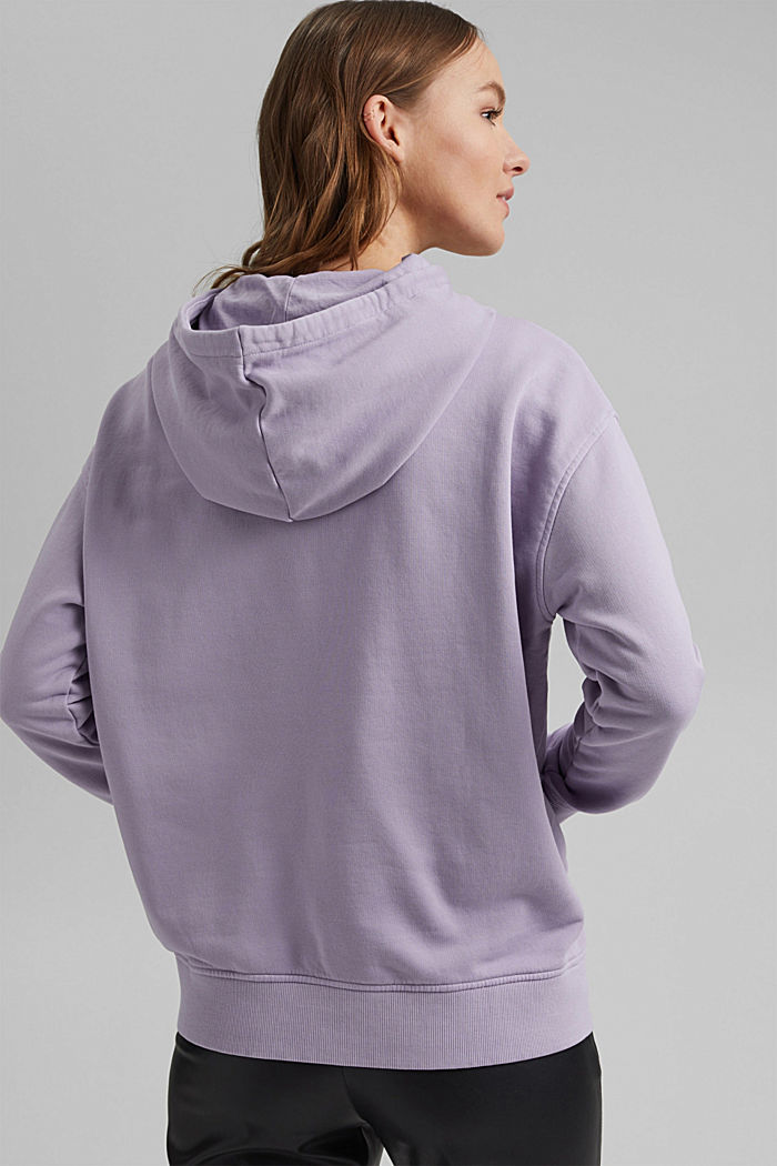 Hooded sweatshirt with organic cotton, LILAC, detail image number 3