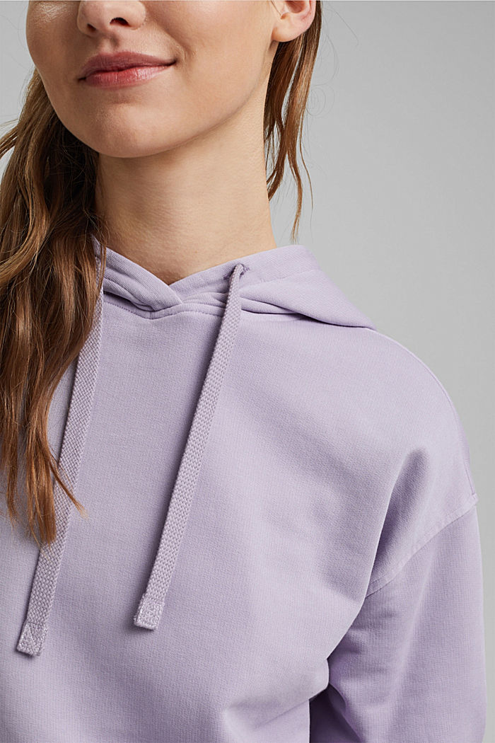 Hooded sweatshirt with organic cotton, LILAC, detail image number 2