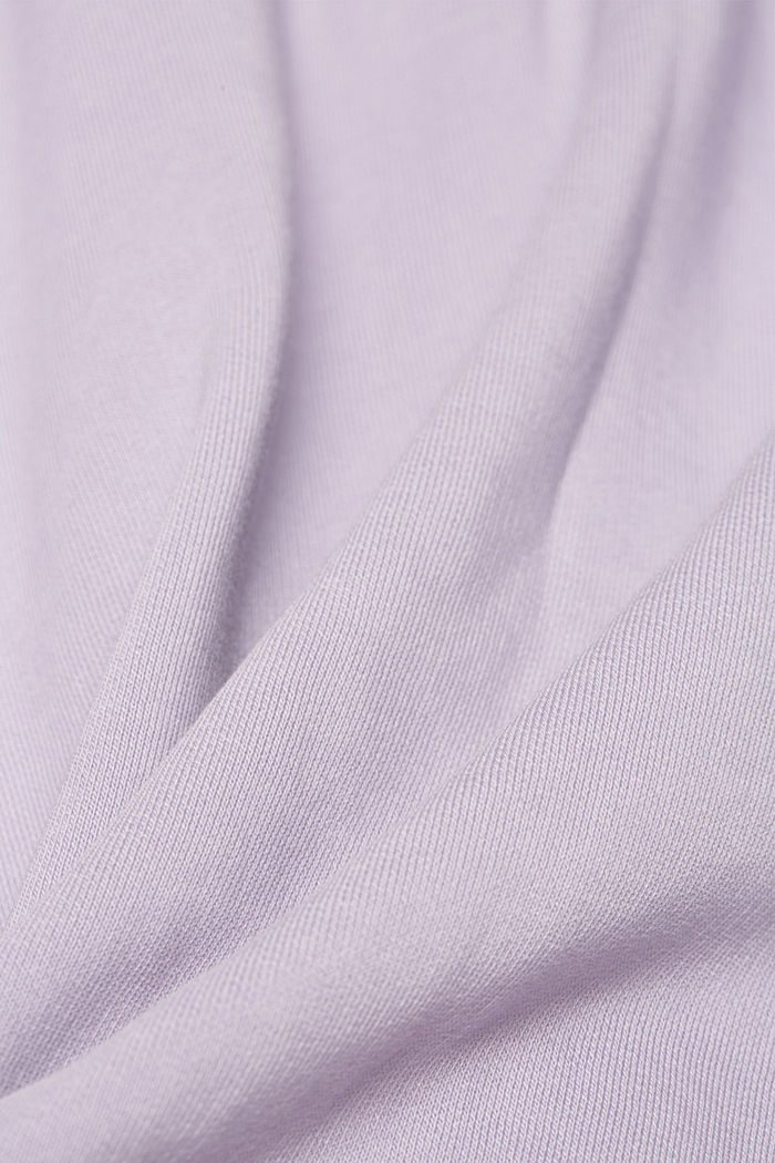 Hooded sweatshirt with organic cotton, LILAC, detail image number 4