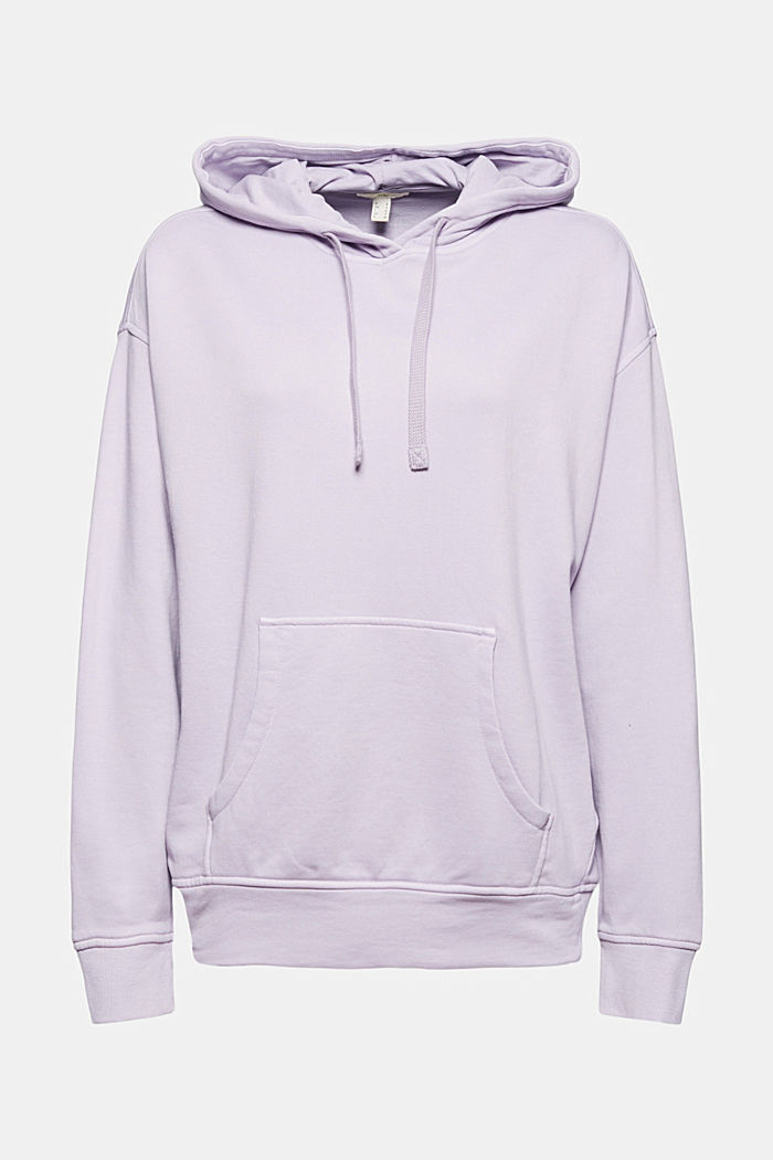 Hooded sweatshirt with organic cotton, LILAC, detail image number 6
