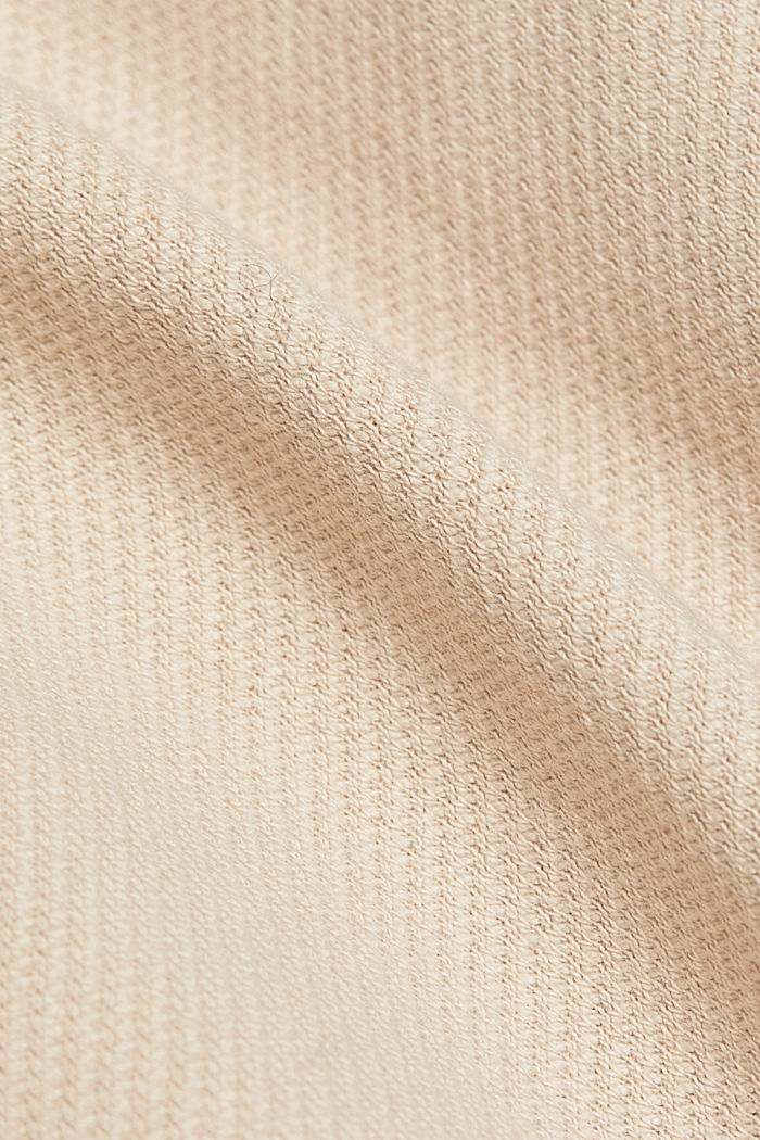 Textured overshirt, 100% organic cotton, BEIGE, detail image number 4