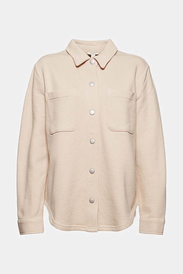 Textured overshirt, 100% organic cotton, BEIGE, detail image number 7