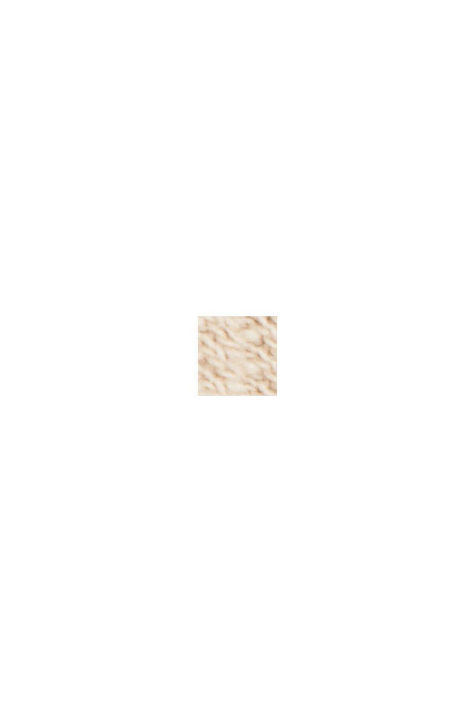 Sobrecamisa con textura, 100% algodón ecológico, BEIGE, swatch