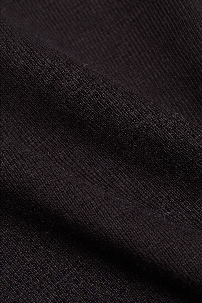 Longsleeve aus 100% Organic Cotton, BLACK, detail image number 4