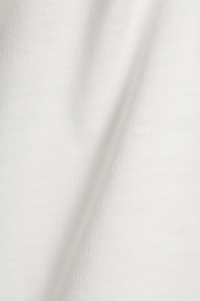 Longsleeve aus 100% Organic Cotton, OFF WHITE, detail image number 4