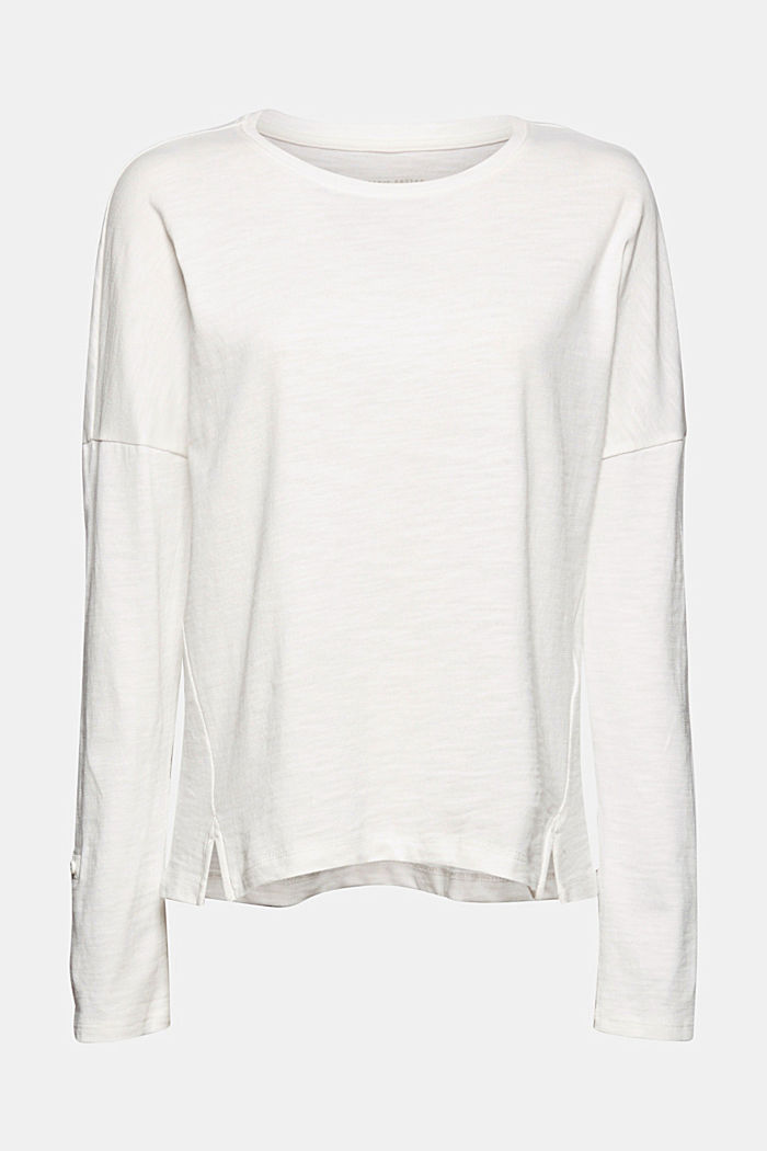 Longsleeve aus 100% Organic Cotton, OFF WHITE, detail image number 5