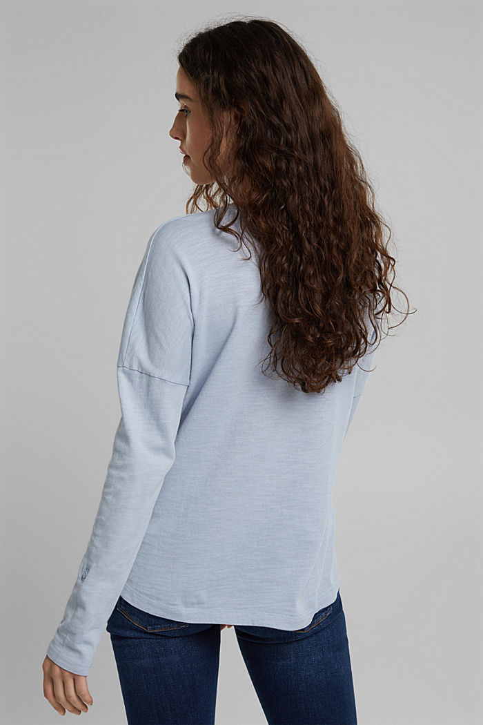 Long sleeve top made of 100% organic cotton, LIGHT BLUE LAVENDER, detail image number 3