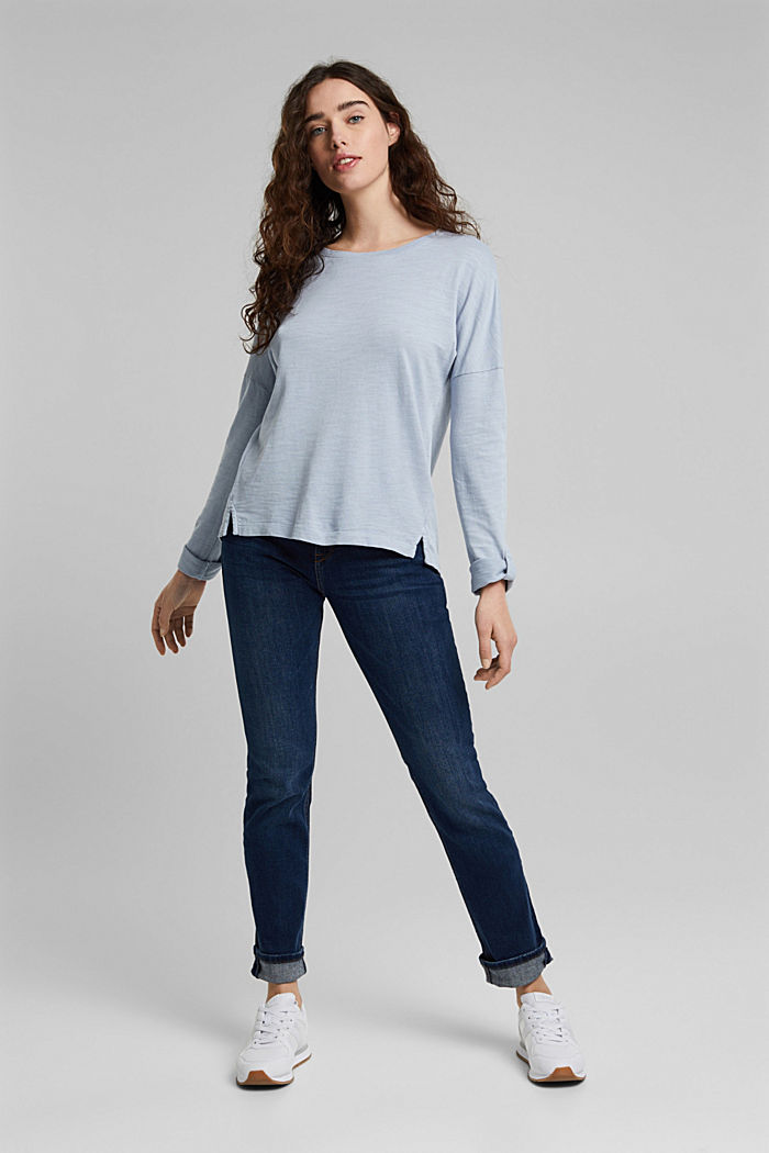 Long sleeve top made of 100% organic cotton, LIGHT BLUE LAVENDER, detail image number 6