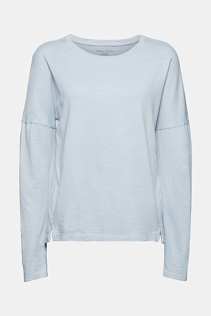 Long sleeve top made of 100% organic cotton, LIGHT BLUE LAVENDER, detail image number 7