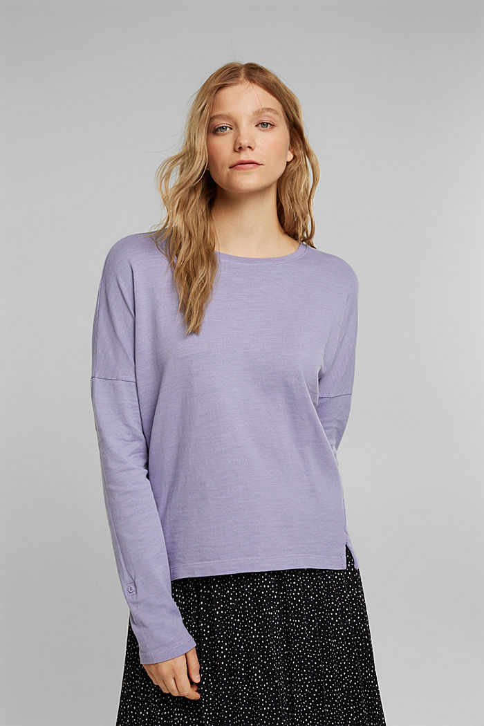 Long sleeve top made of 100% organic cotton, LILAC, detail image number 0