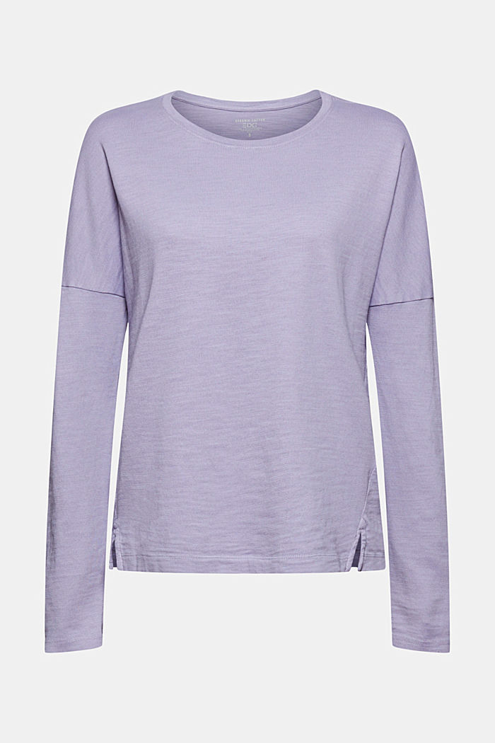 Long sleeve top made of 100% organic cotton, LILAC, detail image number 7