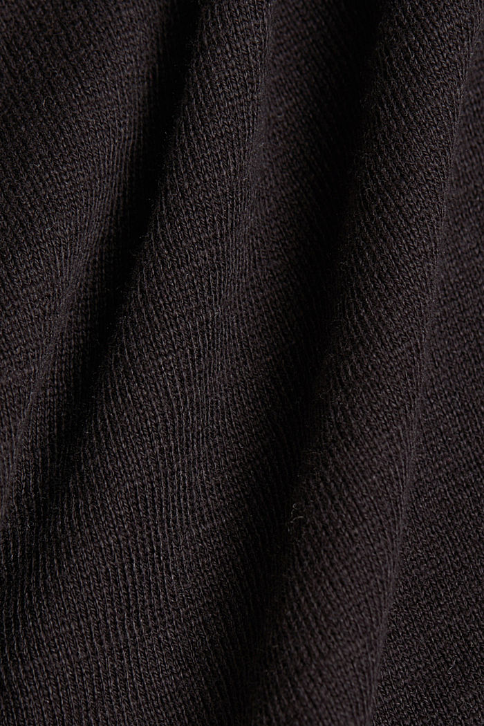 Jersey cardigan made of organic cotton, BLACK, detail image number 4