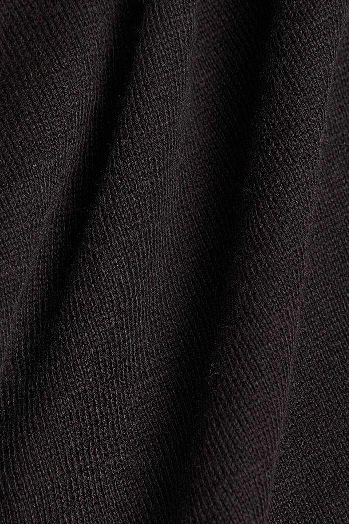 Jersey-Cardigan aus Organic Cotton, BLACK, detail image number 4
