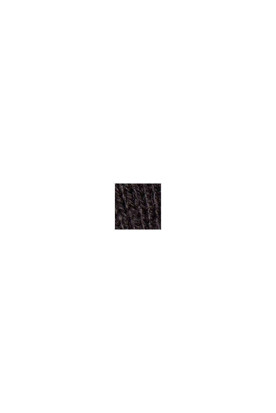 Jersey-Cardigan aus Organic Cotton, BLACK, swatch