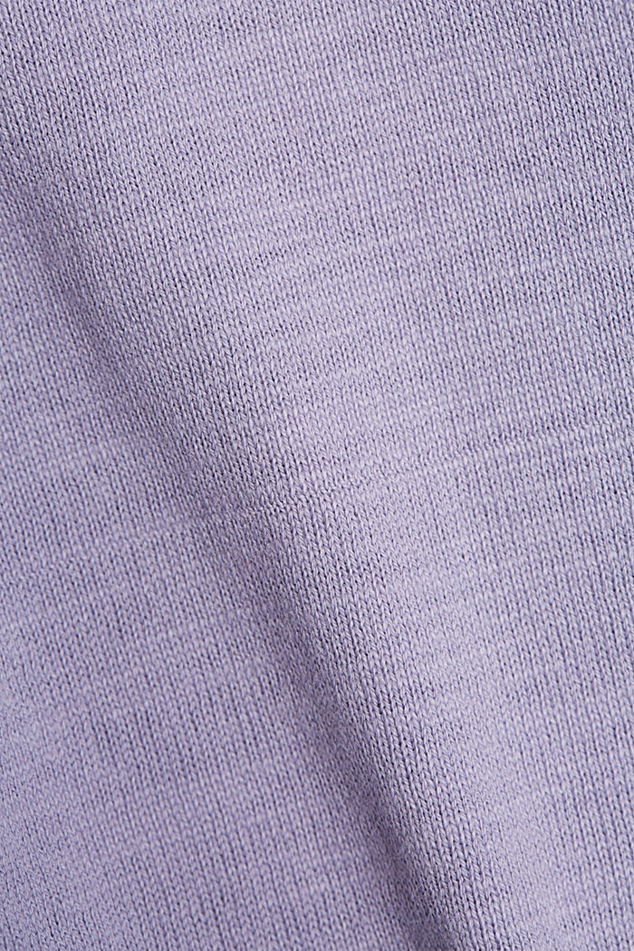 Jersey cardigan made of organic cotton, LILAC, detail image number 4