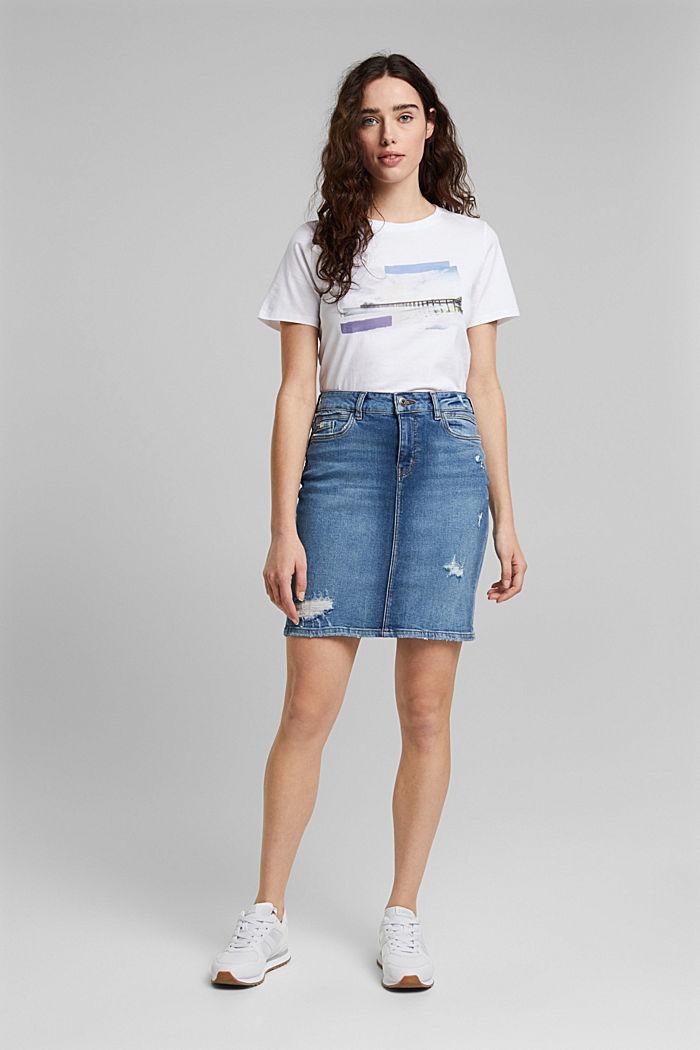 T-Shirt mit Foto-Print, 100% Bio-Baumwolle, WHITE, detail image number 5