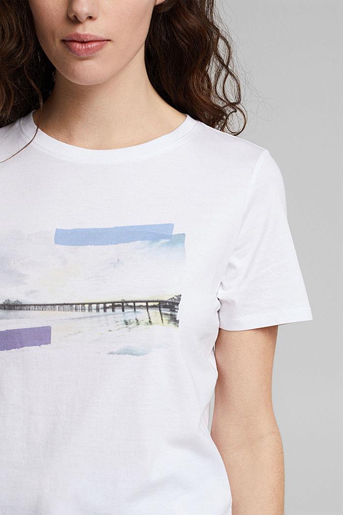 T-Shirt mit Foto-Print, 100% Bio-Baumwolle, WHITE, detail image number 2