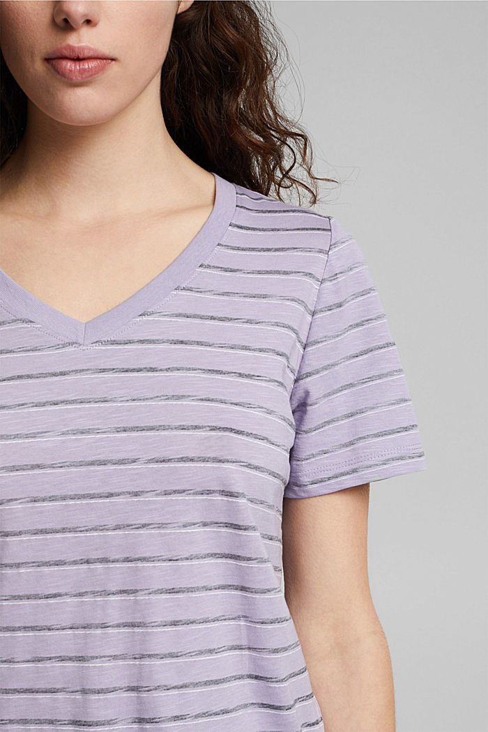 T-shirt made of 100% organic cotton, LILAC, detail image number 2