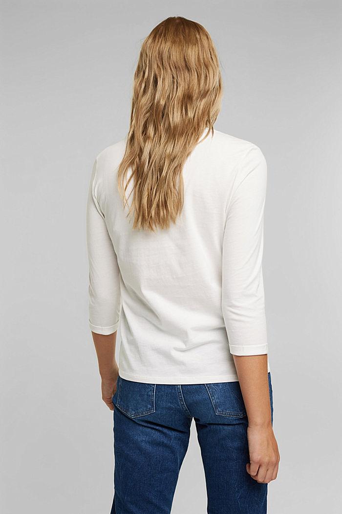 Longsleeve aus 100% Organic Cotton, OFF WHITE, detail image number 3