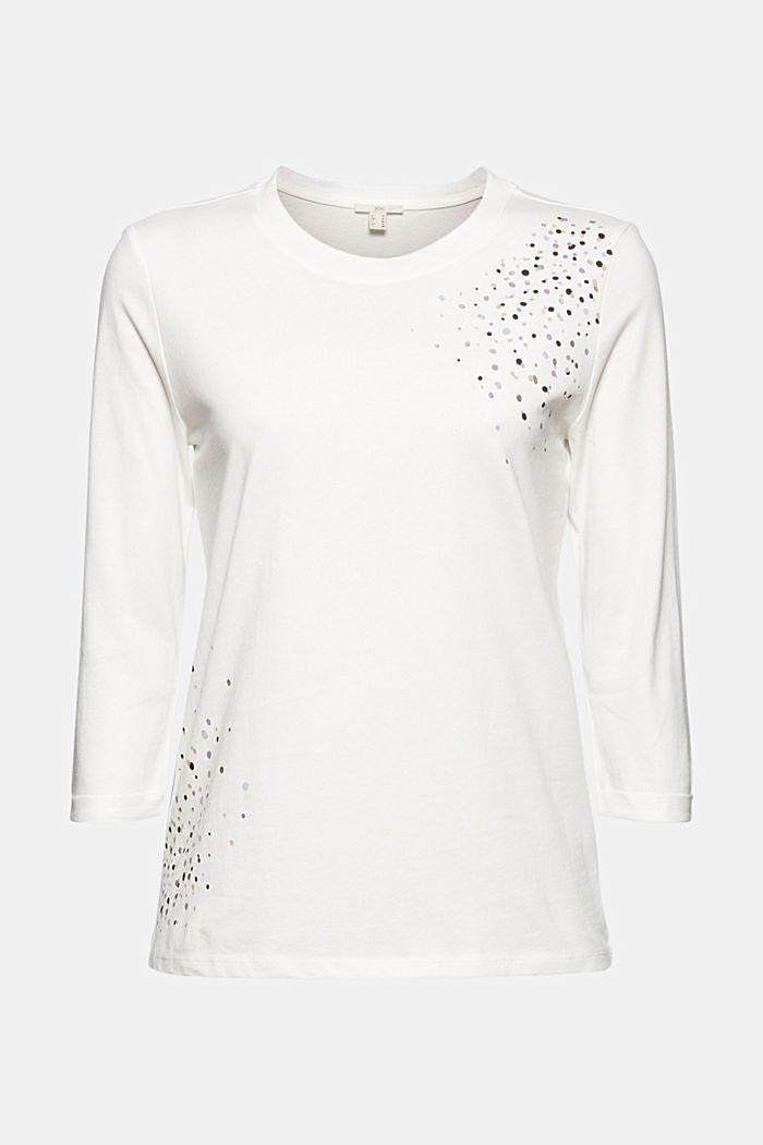 Longsleeve aus 100% Organic Cotton, OFF WHITE, detail image number 6