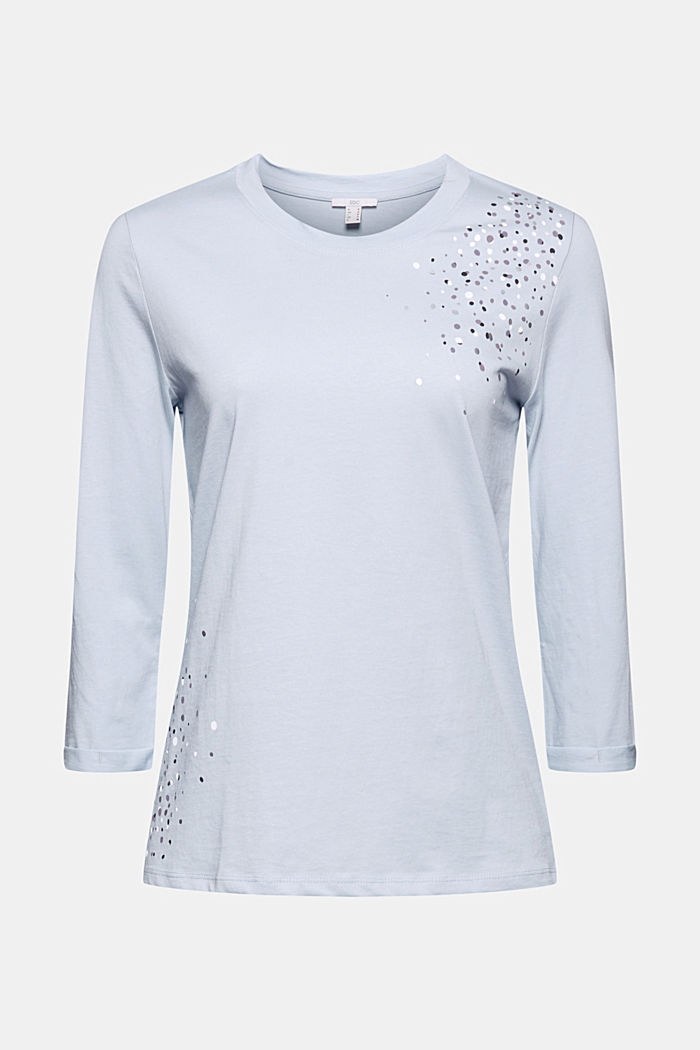 Long sleeve top made of 100% organic cotton, LIGHT BLUE LAVENDER, detail image number 5