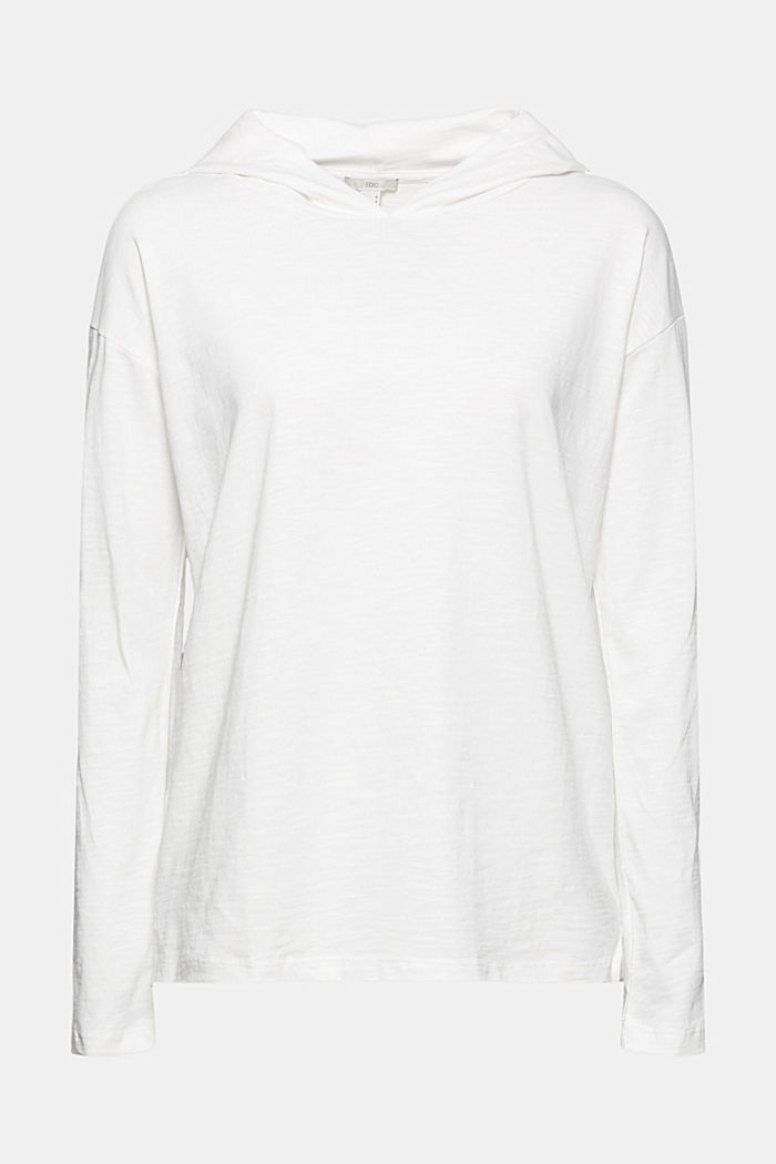 Melierter Jersey-Hoodie aus Organic Cotton, OFF WHITE, detail image number 7