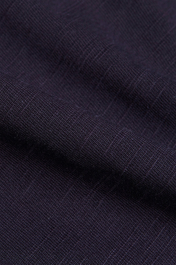 Melange jersey hoodie made of organic cotton, NAVY, detail image number 4