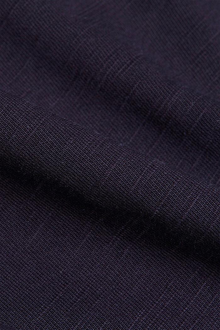 Gemêleerde jersey hoodie van biologisch katoen, NAVY, detail image number 4