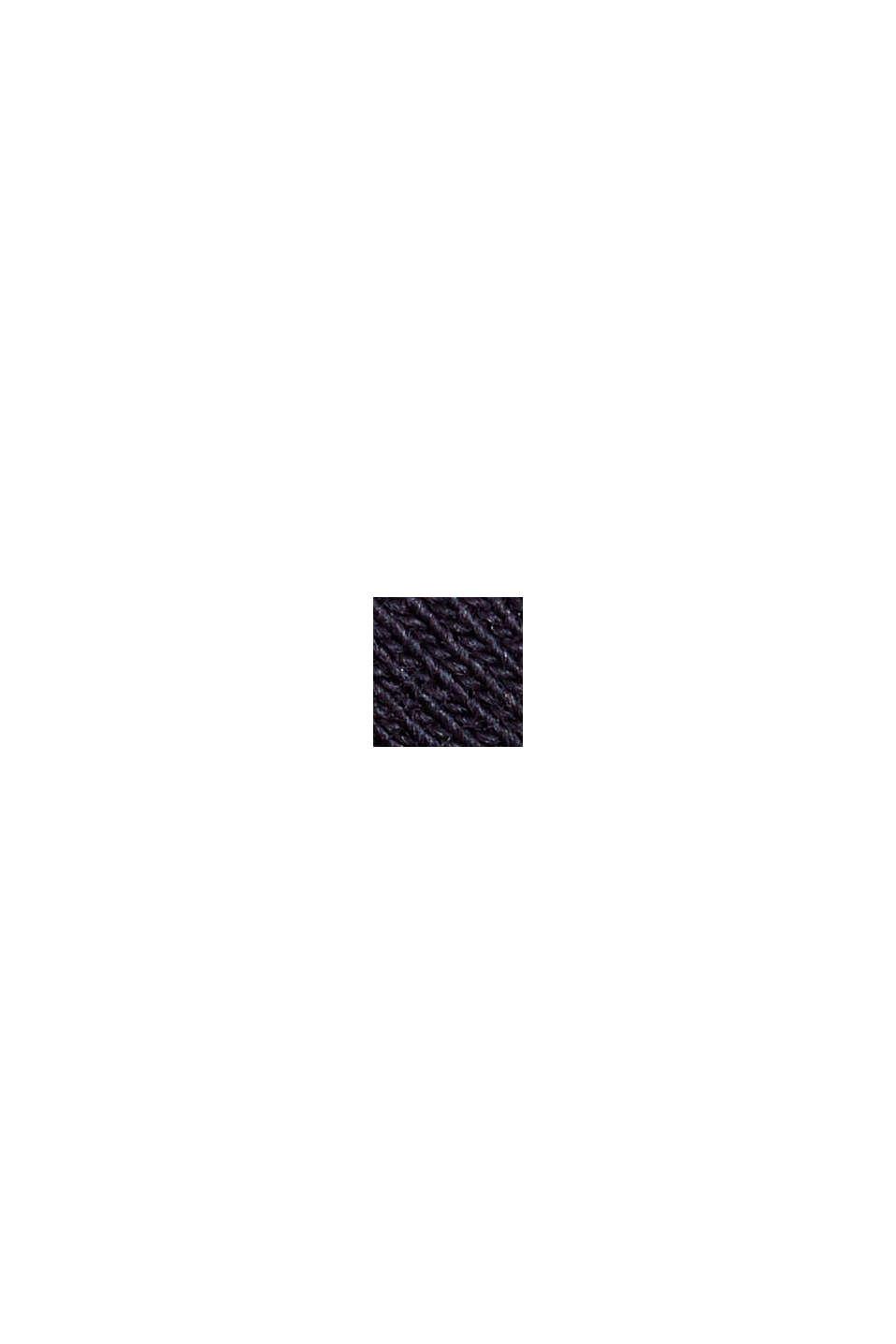 Melierter Jersey-Hoodie aus Organic Cotton, NAVY, swatch
