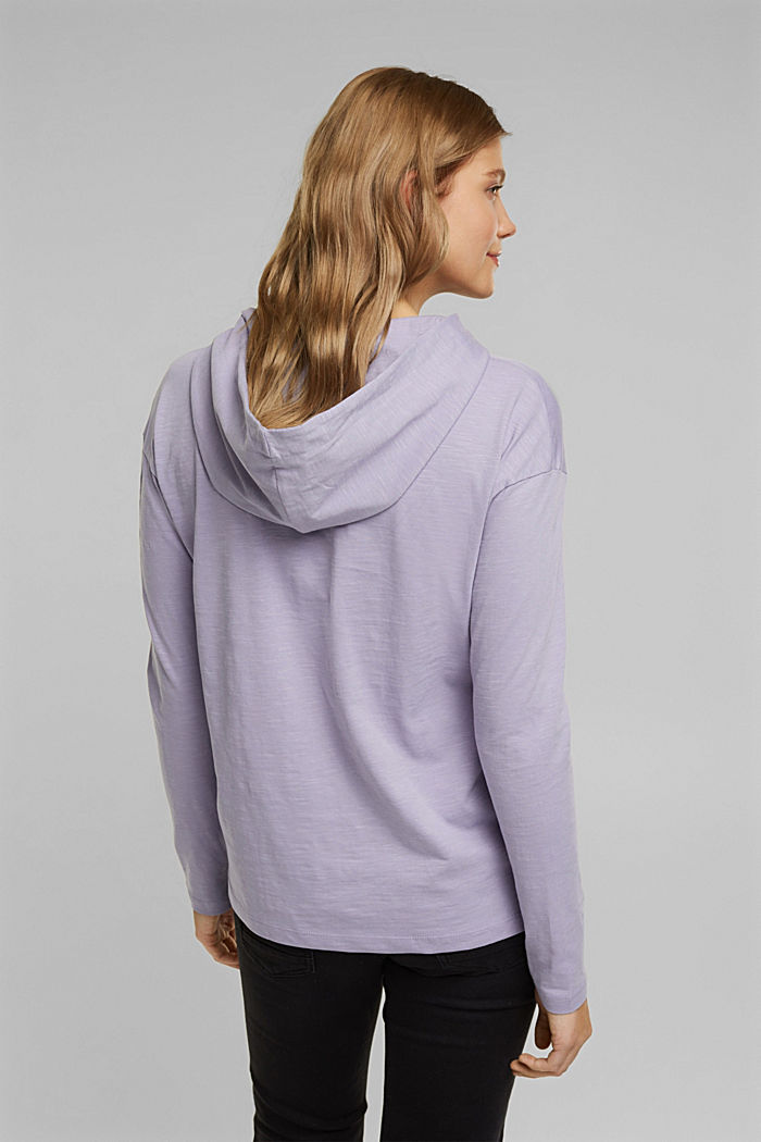 Melierter Jersey-Hoodie aus Organic Cotton, LILAC, detail image number 3